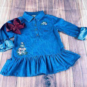 Lucky Brand Girls sz6 Denim Dress & Bow
